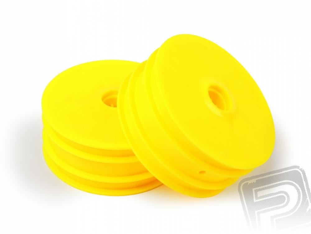2WD WHEEL RIM FRONT: YELLOW (2pcs)