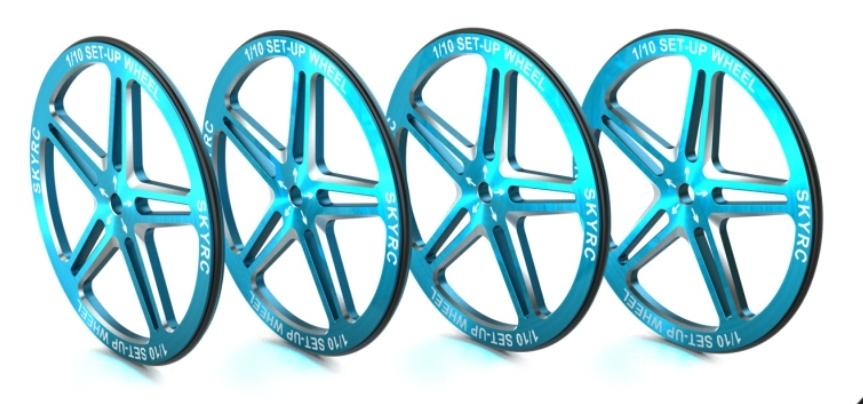1/10 Set-up Wheel (Blue)