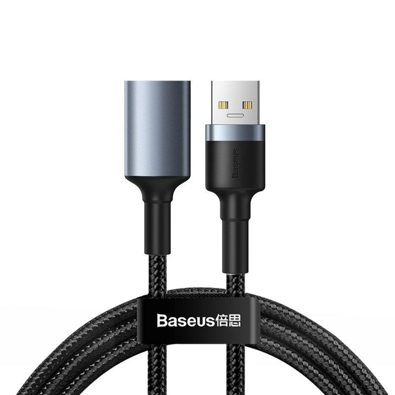 Baseus cafule Cable USB3.0 Male To USB3.0 Female 2A 1m Dark gray