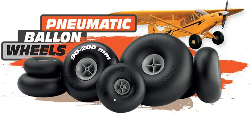 pneumatic ballon wheels, piper wheels