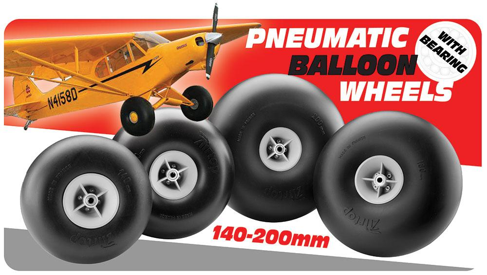 balloon wheels; piper cub